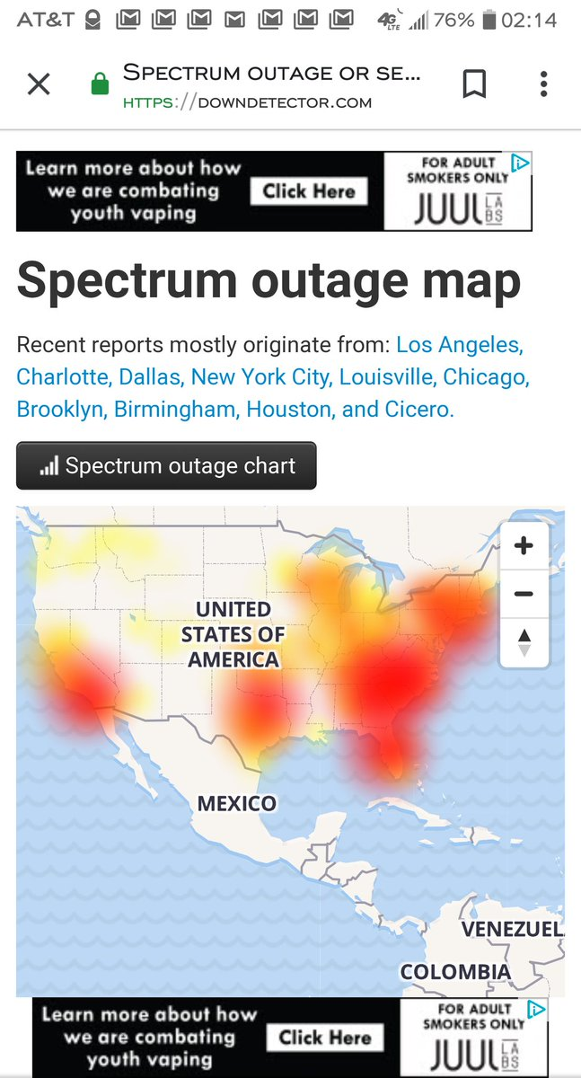 Spectrum Twitter Outage