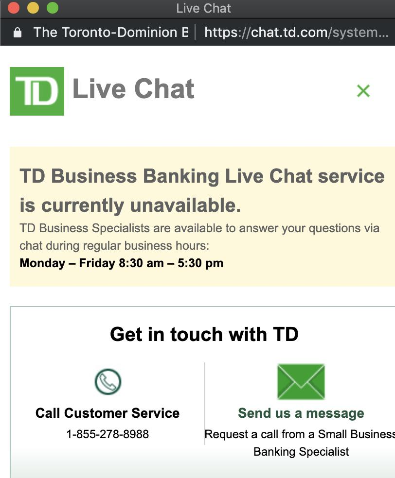 Td bank text message
