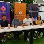 Image for the Tweet beginning: MoU signing with @BlockchainSPAC2 and