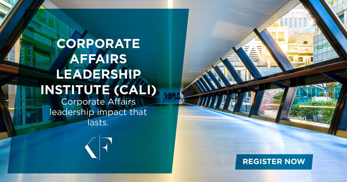 Are you in a #CorporateAffairs #leadership role and looking for a new challenge? Dont miss out on this unique opportunity! Find out more about Korn Ferry's CALI programme: ow.ly/FISi50v4DdF