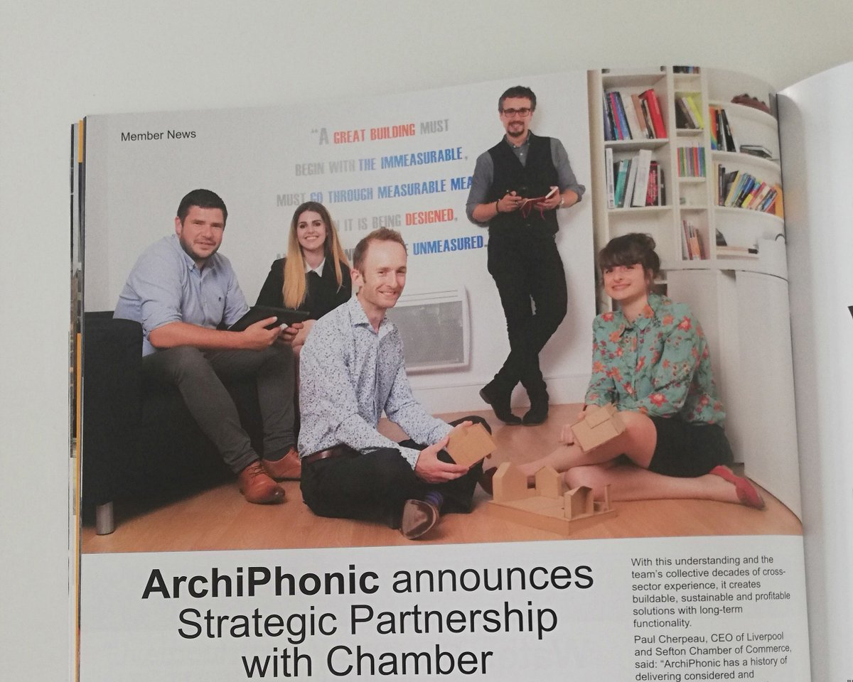 Did you catch us in the Summer 2019 edition of Well Connected? Were greatly looking forward to contributing to and working with @LpoolChamber! #LiverpoolChamberofCommerce #wellconnected #strategicpartnership #business #liverpool #architects #design #team