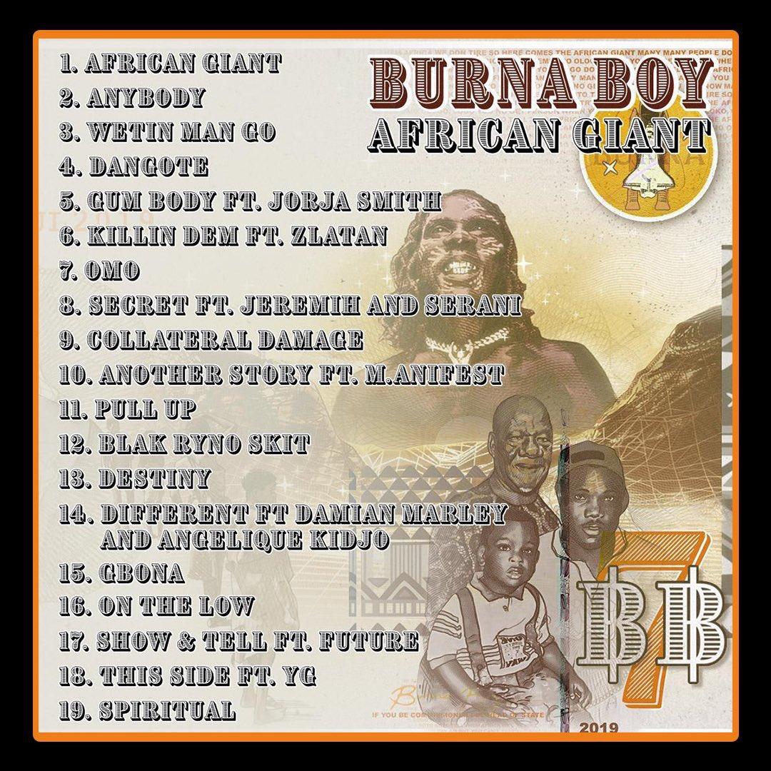 Burna Boy's Album Tops Chart On Apple Music
