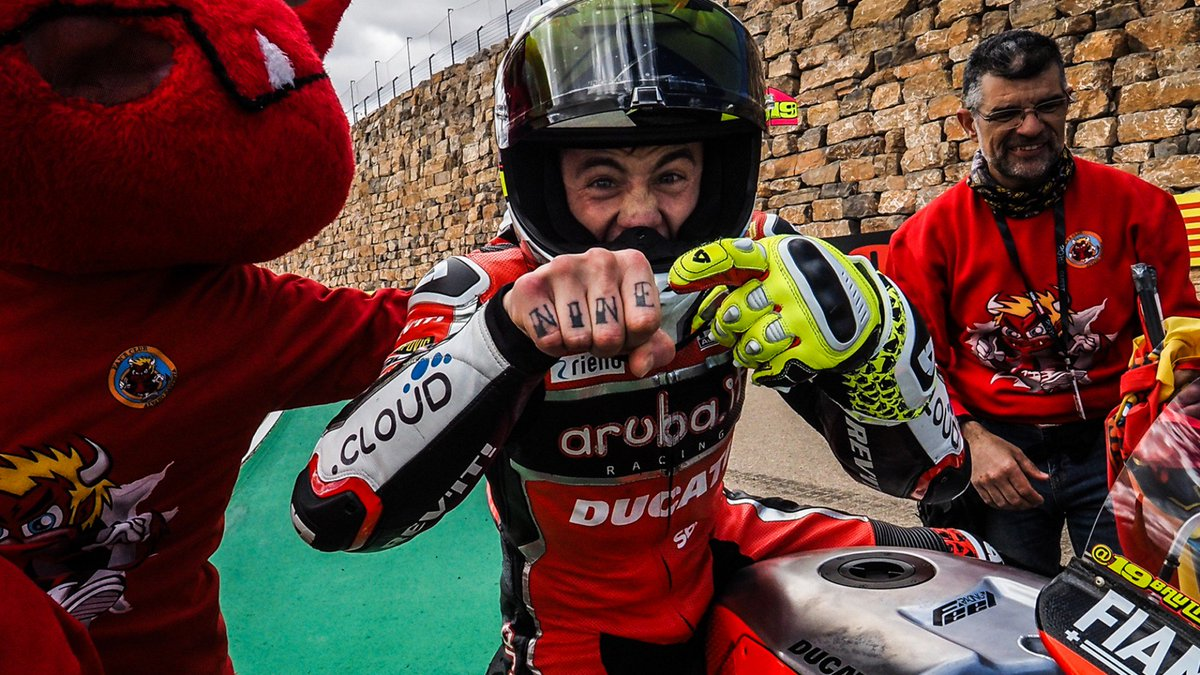 Take ! – The best moments of Aragón  Find out the five most significant instants of Round 3 of the MOTUL FIM Superbike World Championship at the Motocard Aragon Round  #AragonWorldSBK   | #WorldSBK   http://www. worldsbk.com/en/news/2019/T ake%20five%20The%20best%20moments%20of%20Aragn   … <br>http://pic.twitter.com/jMqUsPvWuQ
