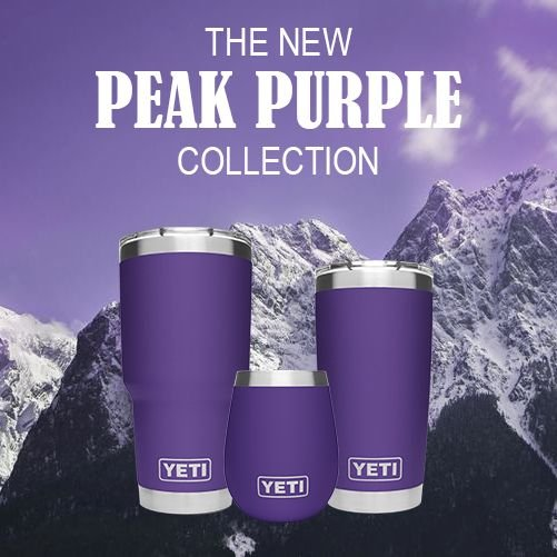 d6b884bb651 Perfect for Football Games and JC Pride! Add a purple and gold vinyl  monogram for just $5! #ShopAceofGray #YetiCoolers #PeakPurple ...