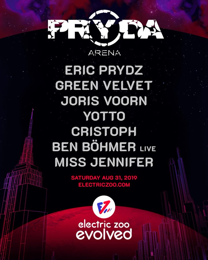 The Electric Zoo Pryda Arena lineup