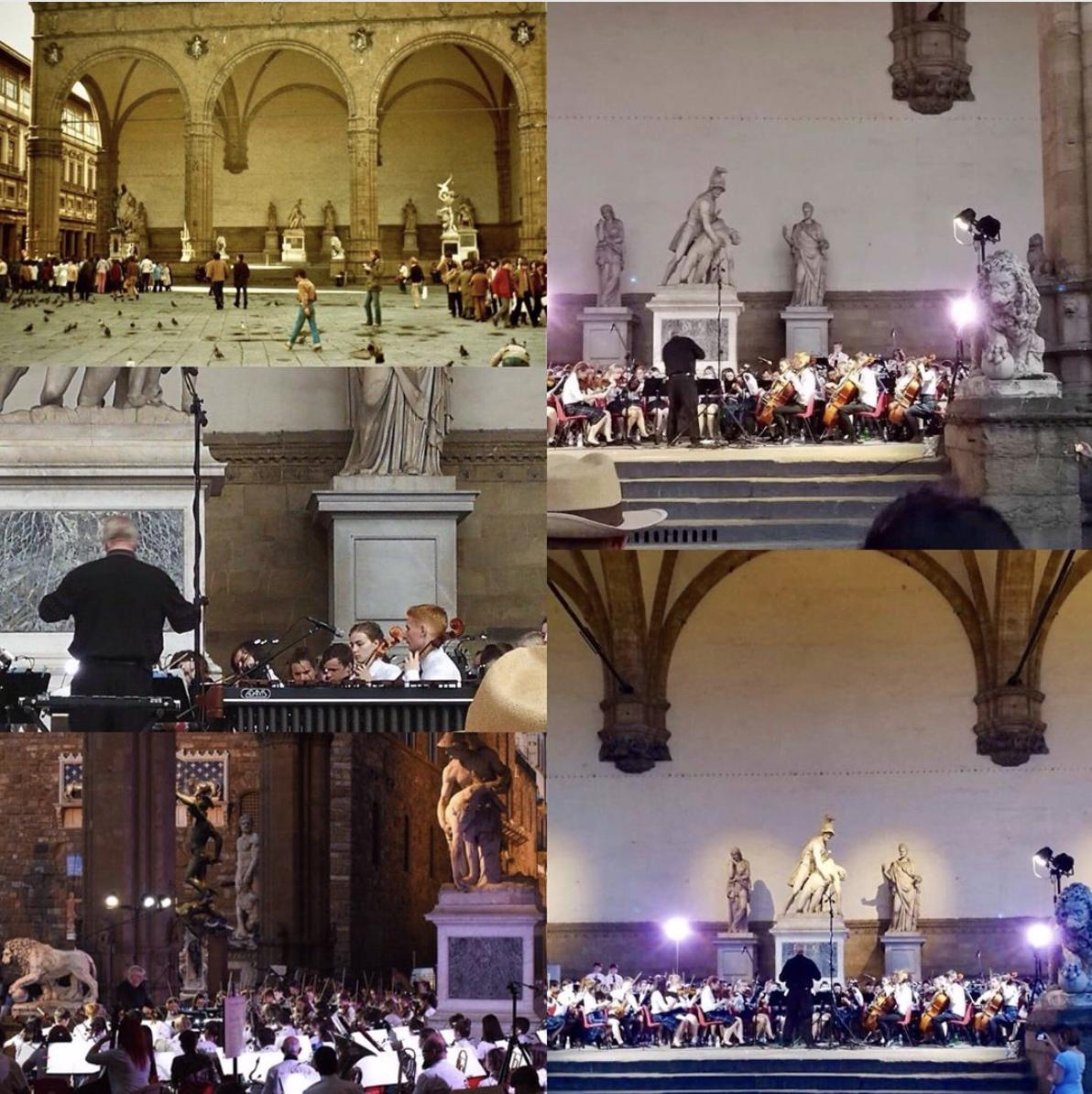 """Thanks #paul_bowtle who said,  """"One of the proudest moments of my life, Catherine playing for PYO in Florence 40 years since I first stood in that square."""" #loggiadeilanzi @pyoperth #festivalorchestre https://t.co/AgRgcwYYgK"""