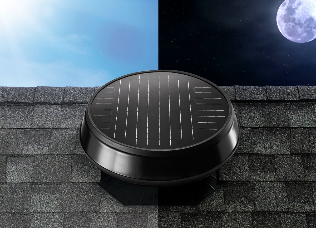 Evenings are heating up!  Avoid discomfort with our #NEW Run at Night Solar Controller! This handy remote allows you to run your solar-powered #atticfan when daylight is nowhere to be seen. https://buff.ly/2Ik1IIT  #SolatubeHome #SolarAtticFan #Summer #HomeImprovementpic.twitter.com/G2izsmXbBd