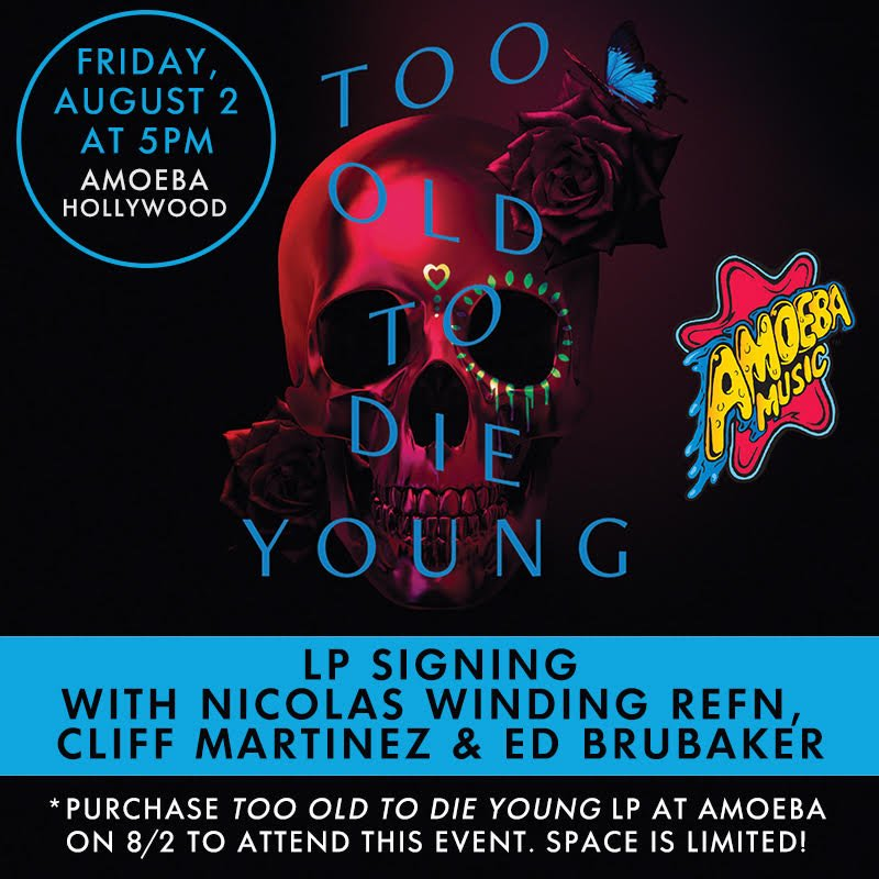 To celebrate the release of the soundtrack to #TOTDY on vinyl,  @nicolaswr, Cliff Martinez and Ed Brubaker will be signing copies of the LP at Amoeba Hollywood on Friday, August 2 at 5 p.m. Purchase your copy in-store that day to receive a ticket to attend the signing. https://t.co/HgXxHqfwEm