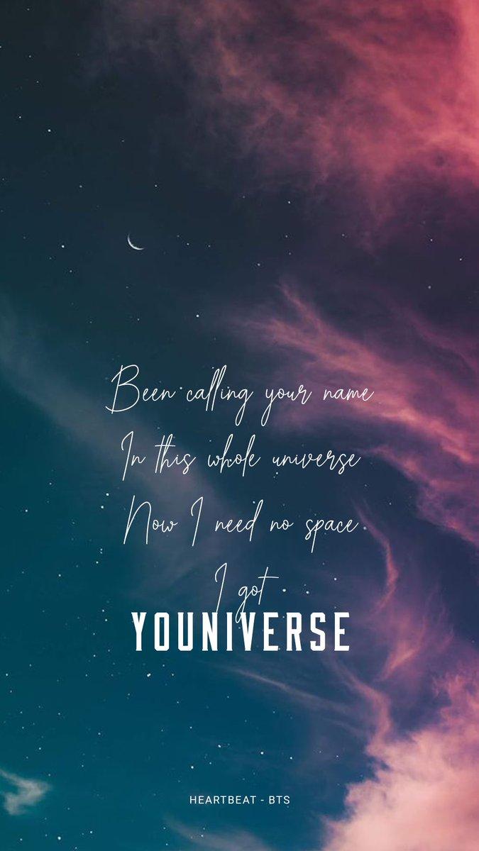 bts lyrics ⁷ on youniverse heartbeat bts lyrics