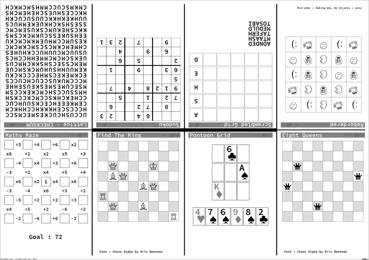 photo relating to Printable Chess Puzzles called foldapuz traola Twitterren