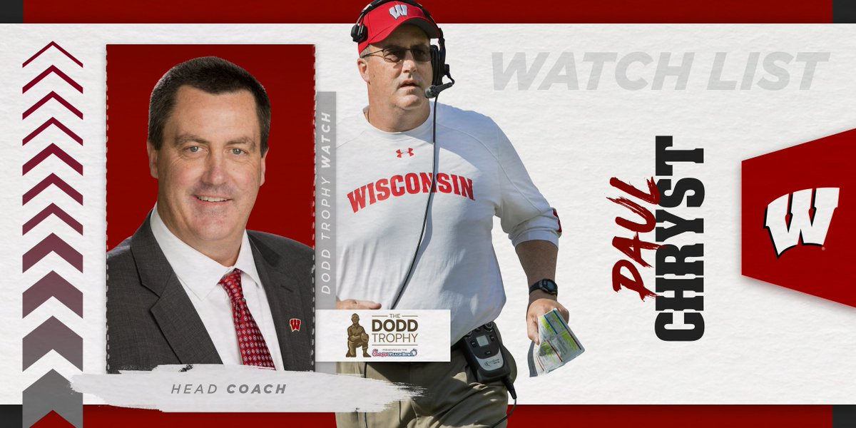 Thats our head coach 👏 Coach Chryst has been named to the @DoddTrophy preseason watch list! #OnWisconsin
