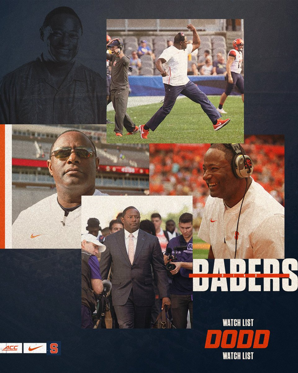 Even @CoachBabersCuse is getting in on the #WatchListSZN fun. Hes one of the 23 initial candidates for the 2019 @DoddTrophy! MORE ⤵️ bit.ly/2Me3ZsA #OITNF 🍊💨