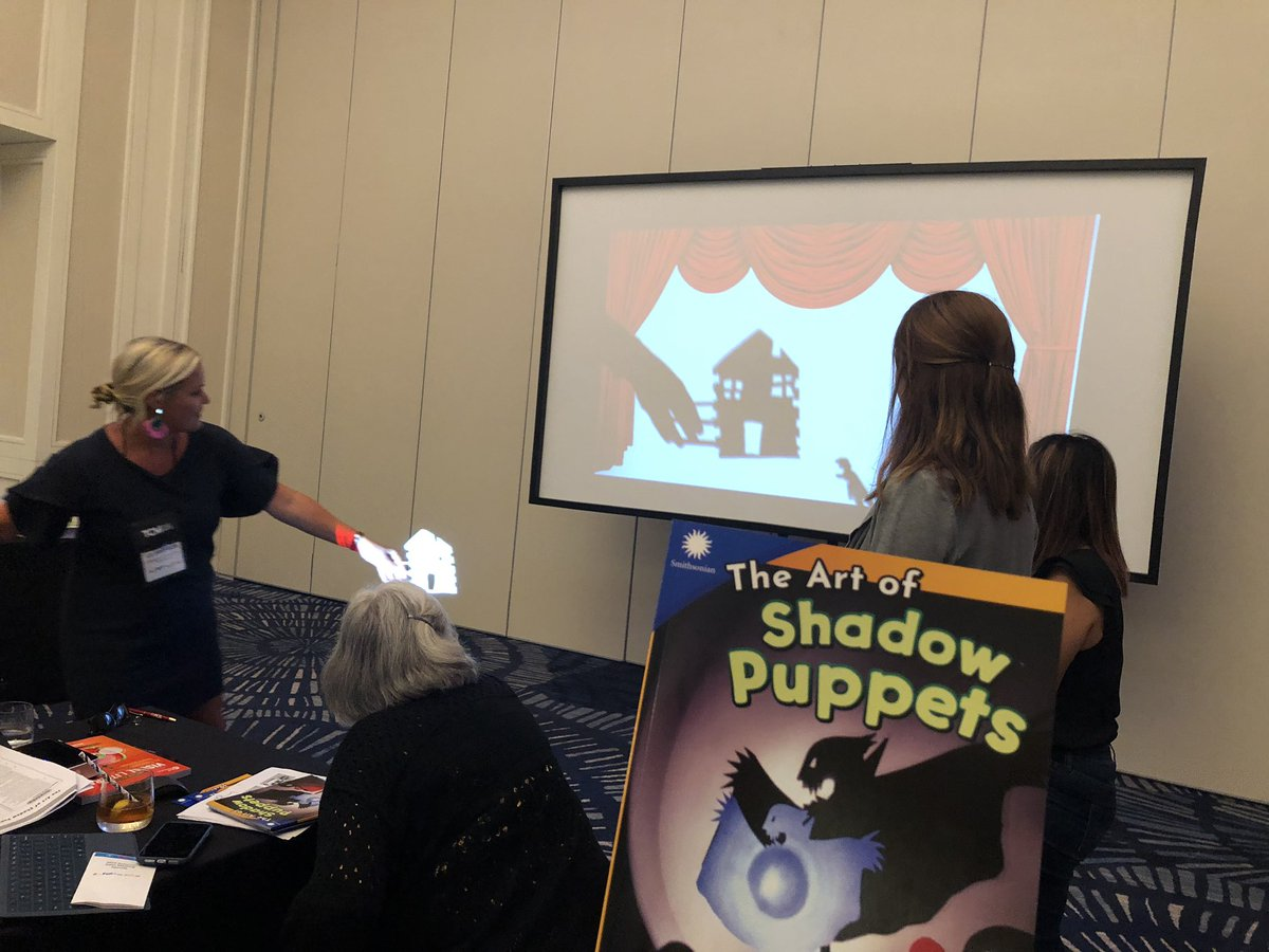 Fun with shadow puppets and #Smithsonian #STEAM readers brought to us by #MyTCM @tcmpub #TCMNSM19<br>http://pic.twitter.com/krsDcW53N3