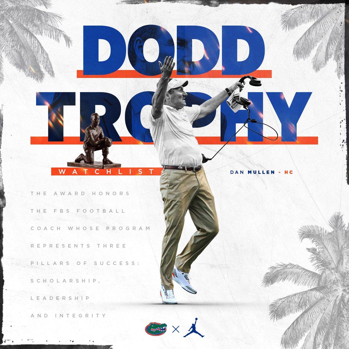 Watch Lists Revealed: 🏆 @DoddTrophy 🐊 @CoachDanMullen Story: bit.ly/315zzNx 🏆 @WuerffelTrophy 🐊 @Tyrie_1 Story: bit.ly/2Zdd34z 🏆 @hornungaward 🐊 @0fficialC2N Story: bit.ly/2Zdd34z #GatorStandard