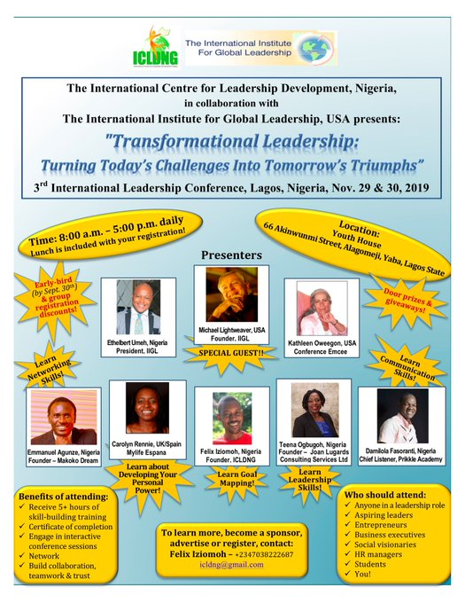 REGISTRATION OPENS FOR IIGL/ICLD LEADERSHIP CONFERENCE IN NIGERIA