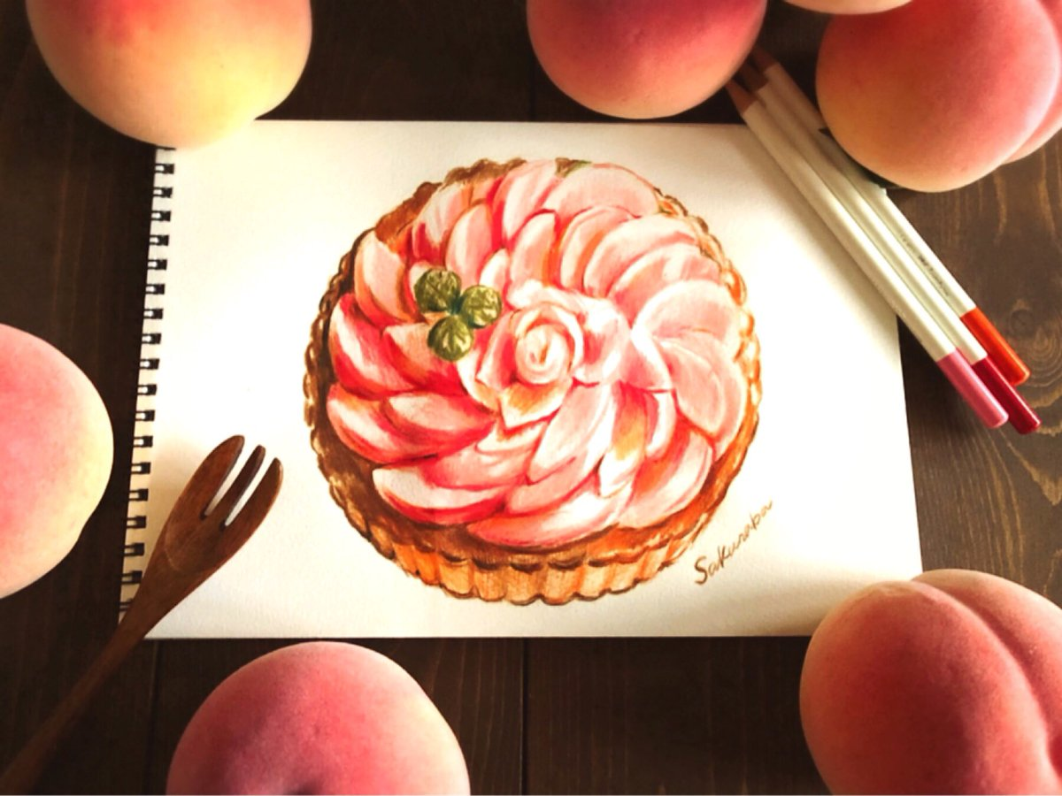 Sakuraba まよなかのハロウィン展 10月19日 31日 على تويتر ピーチタルト 色鉛筆で描きました イラストのお仕事募集中 Dmにてご連絡ください Lineスタンプ販売中 T Co Ge3bbnr5sl 桃 タルト スイーツ 色鉛筆 イラスト ケーキ いちご Sweets