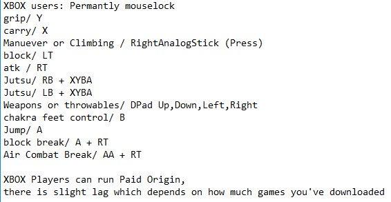 Rellgames On Twitter Shinobi Story Xbox Controls Paid Origin
