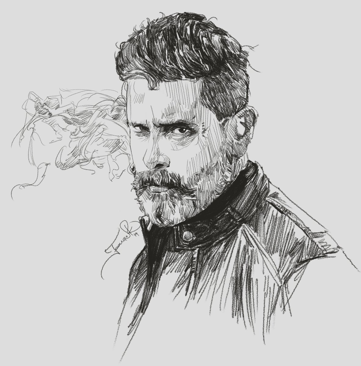 Todays pencil sketch our actor chiyan vikram hard
