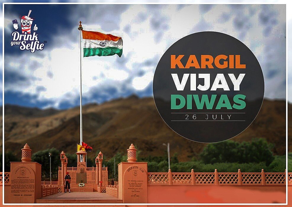 Let's remember the sacrifice of those brave soldiers who died in the line of duty to protect our great nation. Jai bharat! #DrinkYourSelfie #KargilVijayDiwas2019