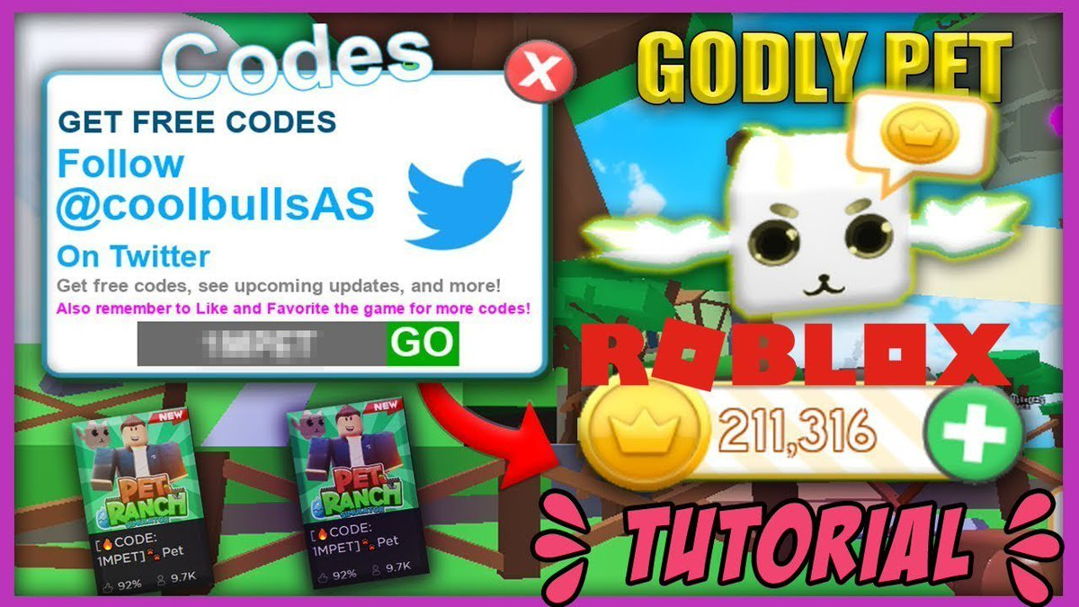 Pcgame On Twitter Pet Ranch Roblox Tutorial Codes March 2019