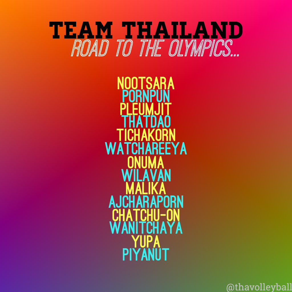 WE WILL GO THE OLYMPICS TOGETHER!   ______ #RoadtoOlympics #วอลเลย์บอลหญิง https://t.co/AUPZrr2pkX