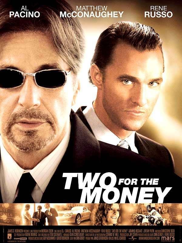 Two for the Money est sorti ce jour il y a 13 ans (2006). #AlPacino #MatthewMcConaughey - #DJCaruso