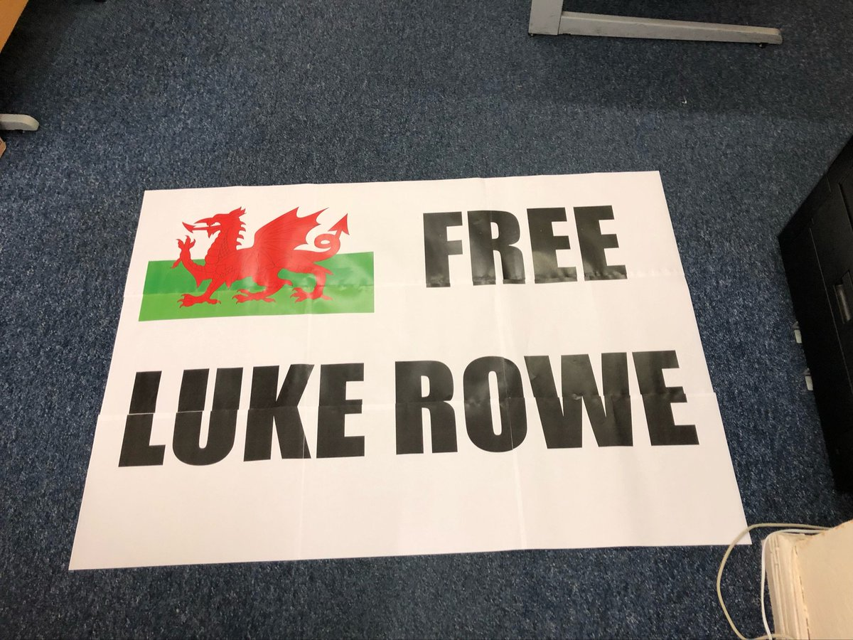 Just prepping my Tour de France sign for the Champs Élysées on Sunday… #FreeLukeRowe