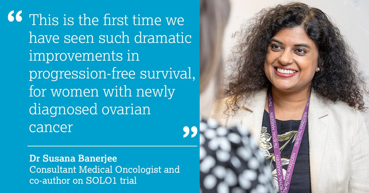 The Royal Marsden Nhs Foundation Trust On Twitter Maintenance Olaparib Heralds A New Era For Women With Newly Diagnosed Ovarian Cancer Banerjeesusana Reacts To News That Olaparib Has Been Approved By Cdf Nicecomms