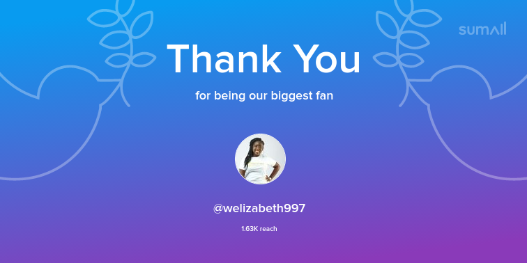 Our biggest fans this week: welizabeth997. Thank you! via sumall.com/thankyou?utm_s…