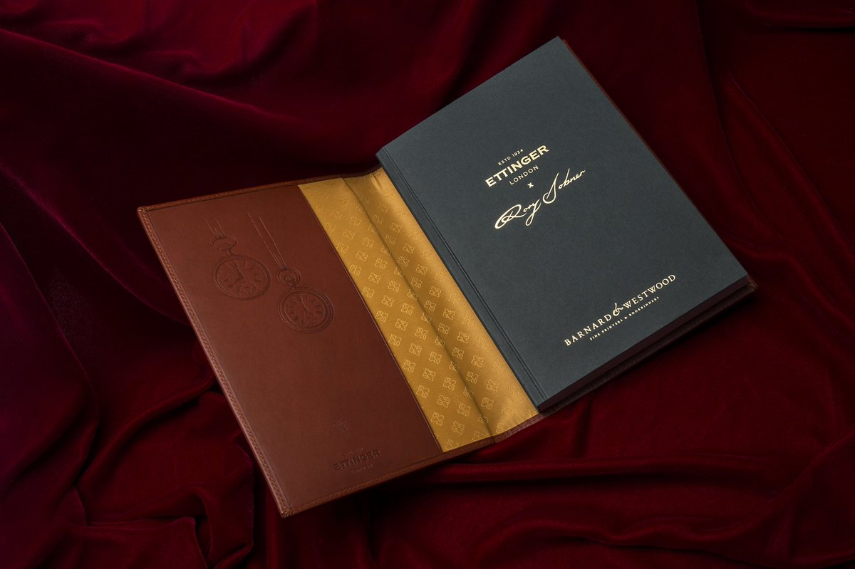 The Ettinger X Rory Dobner limited-edition notebook has been launched and is available to purchase via the @EttingerLondon website - https://t.co/Zd6bGfb5is @RoryDobner @QESTcraft https://t.co/6oosHLqr47
