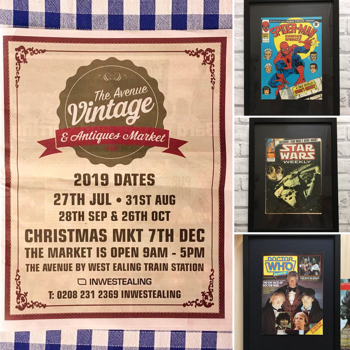 The Avenue Vintage & Antique Market is ON in West Ealing tomorrow, Sat 27th  Come along and tell us how hot you've been- bet I win 😬  @EalingNewsExtra #Ealing @InWestEaling @ilovemarkets https://t.co/M8cJpAbK5s