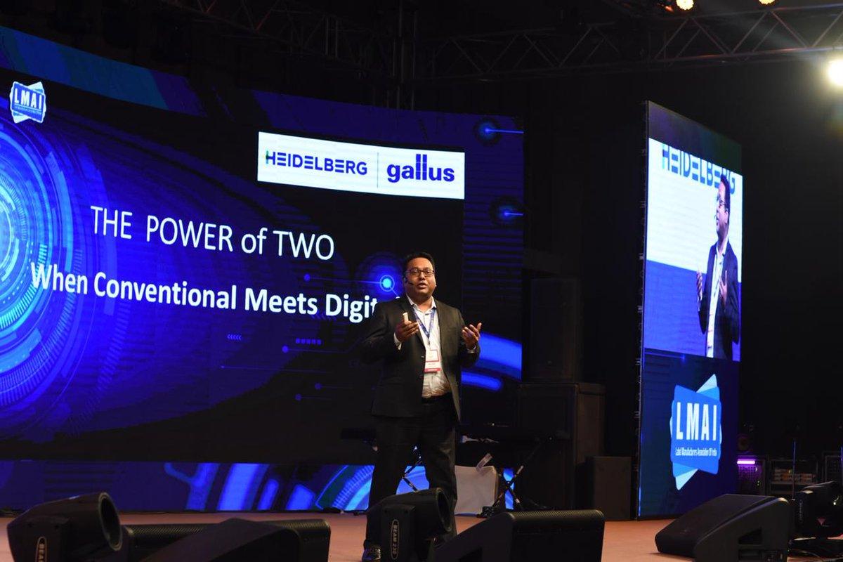 Heidelberg India President,  Samir Patkar, shares the 'Power of 2 - Conventional meets digital' presentation on digital and conventional flexo printing at LMAI conference, Kochi.  #LMAI #Labels #Labelprinting #label #Gallus @gallus