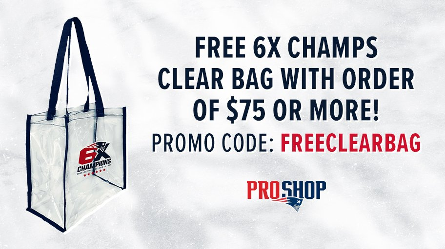 Get A Free 6x Champs Clear Bag With Your Order Of 75 Or