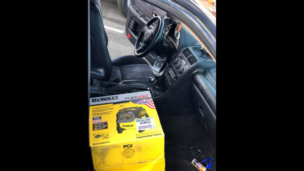 Antonio Godinez busted swiping DEWALTtough air compressor