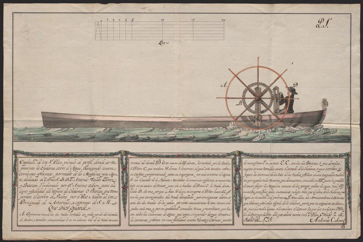 #FelizDomingo! Refréscate en nuestras ⛲documentales con esta chalana navegando contracorriente del Archivo del Museo Naval. #ArchivosDeDefensa #ArchivoMuseoNaval @Museo_Naval
