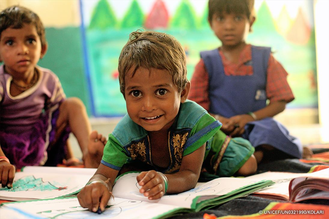 Today is #NationalColoringBookDay — a great opportunity to add some color to the world! 🖍 📸: @UNICEFIndia