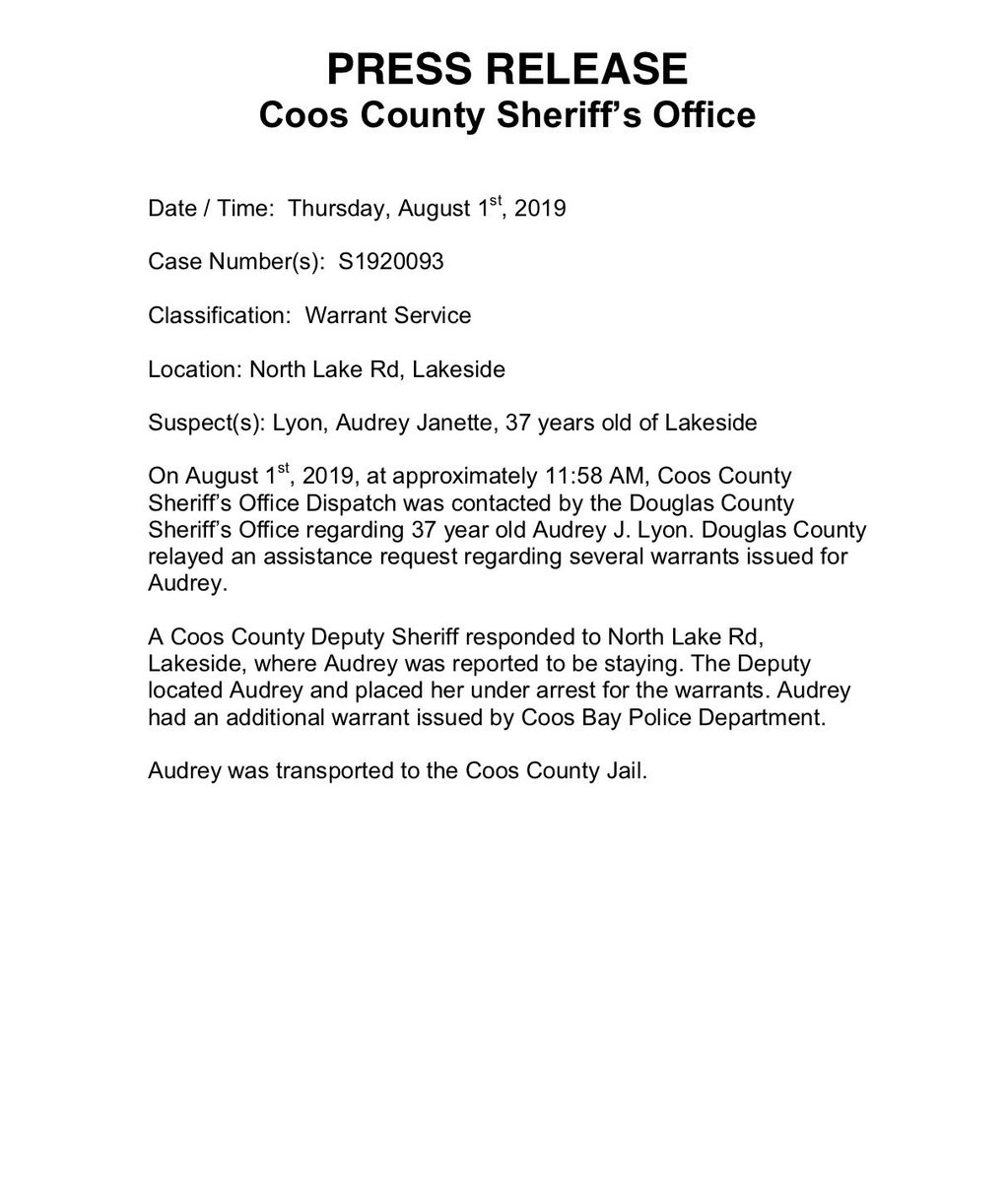 Coos County SO (@Coos_County_SO) | Twitter