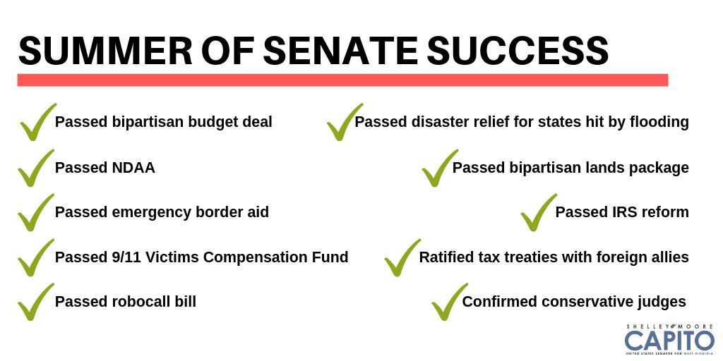 It's been a busy summer! Here's some of what the Senate tackled: