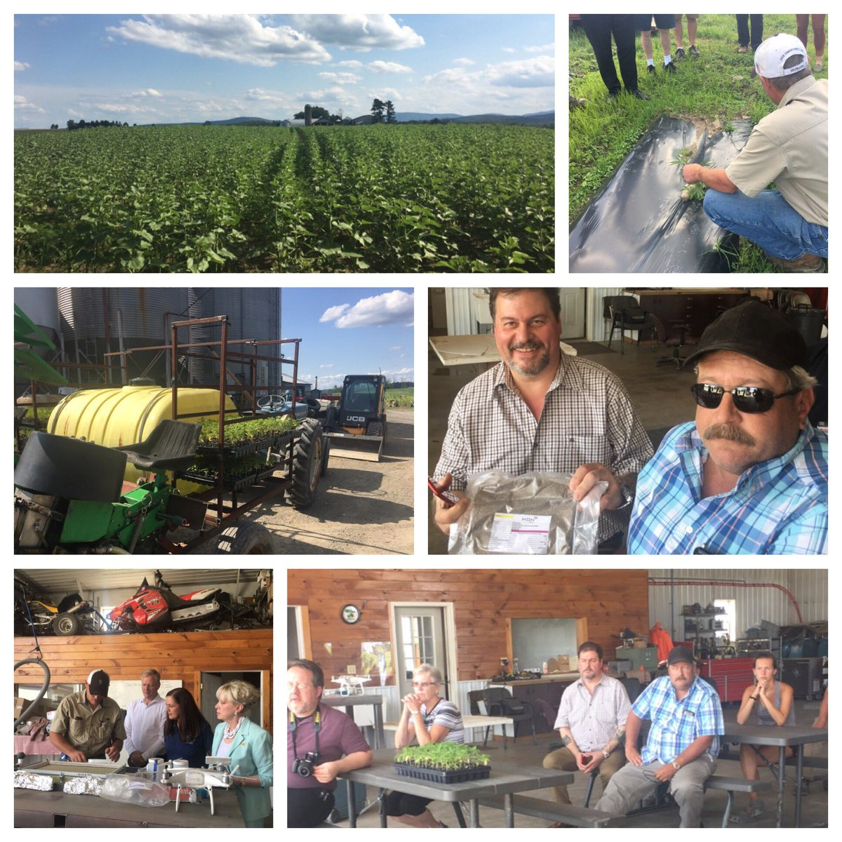 Touring Brown Hill Farms in Lemon Twp & learning of their new endeavor to grown hemp for various commercial uses.