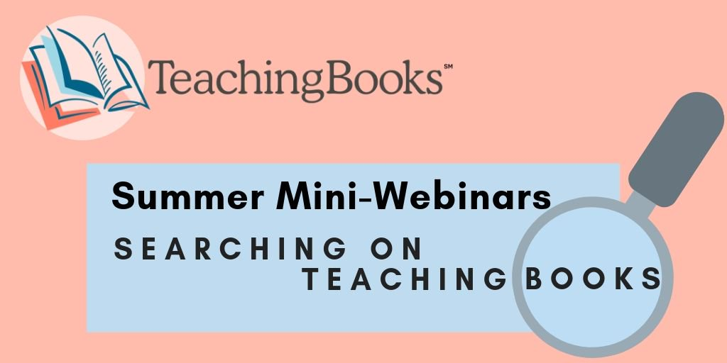 test Twitter Media - We now have new streamlined searching!  Finding great literary resources on TeachingBooks is even more efficient. Join this quick 15 minute demo highlighting the new search tool.  We can't wait to discover resources with you! Join us: https://t.co/LhuCO8lwsB https://t.co/74ovhywbcK