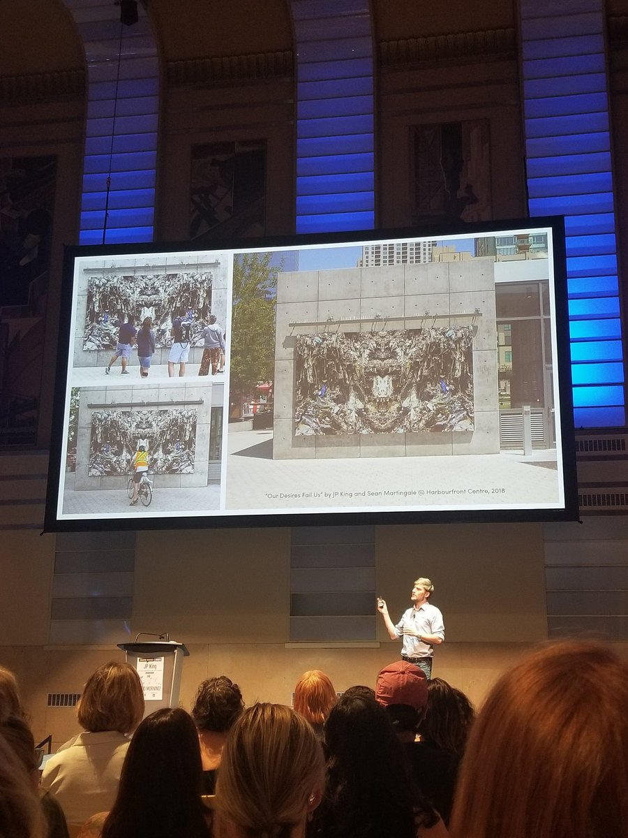 Great @creativemorning listening to Toronto artist J.P. King discuss our relationship with waste @DesignExchange
