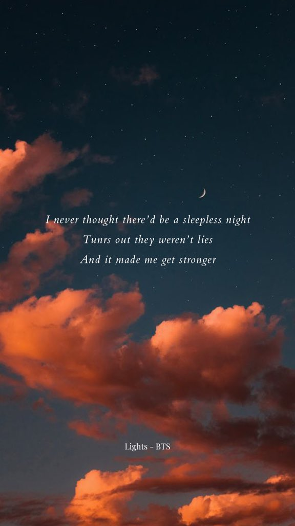 bts lyrics ⁷ on sleepless night lights bts lyrics