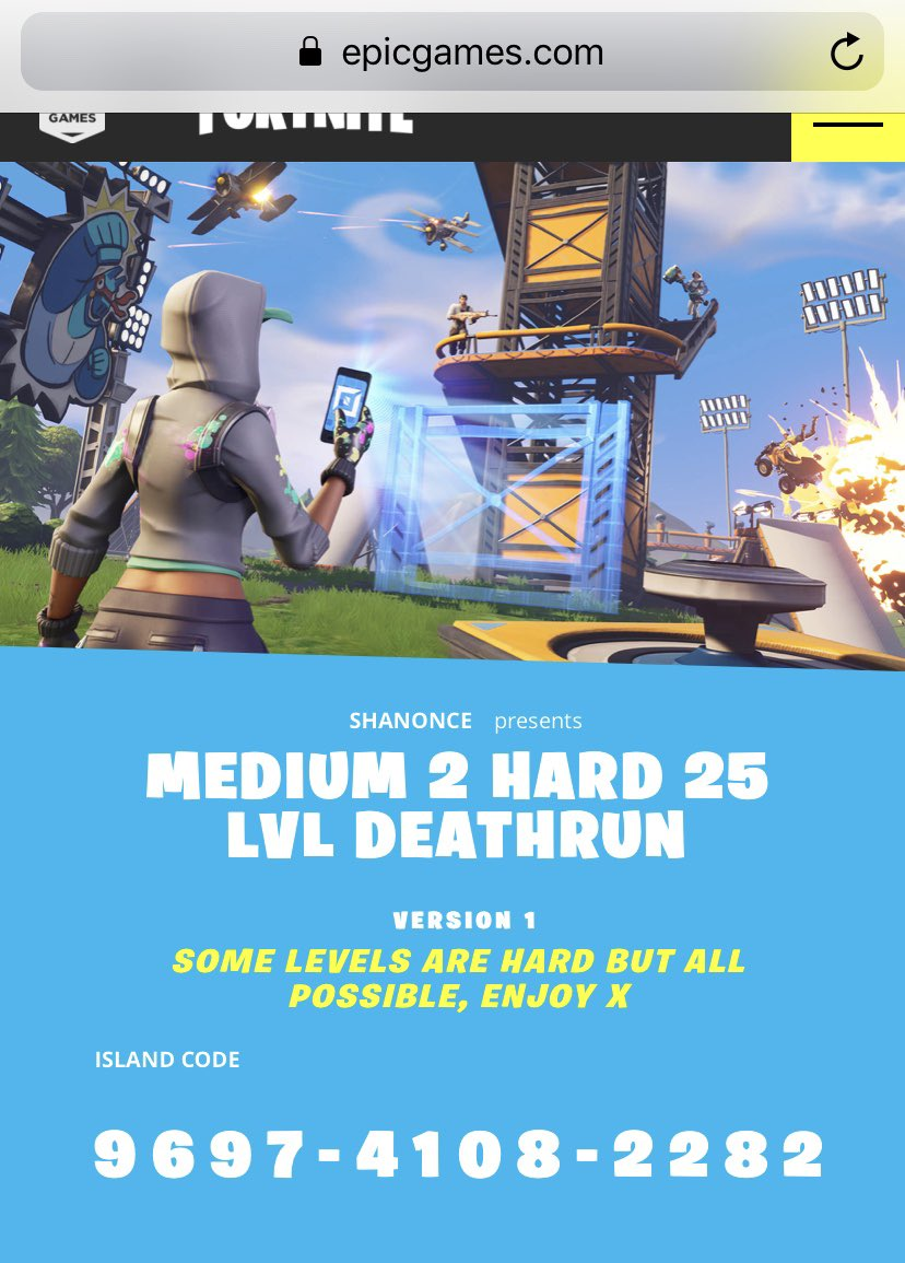 Fortnite Hard Deathrun Codes 2021 ѕhah Waverisesforgfuel On Twitter Here It Is Probably The Hardest Deathrun I Ve Made With Help From My Homie Kiwifnbr Go Play This Let Us Know How You Get On Fortnite