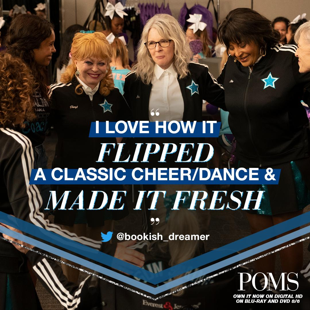 "Bring home a ""classic cheer"" movie made fresh! #PomsMovie on Digital HD and Blu-Ray and DVD August 6. https://t.co/CGJjZn5xut"