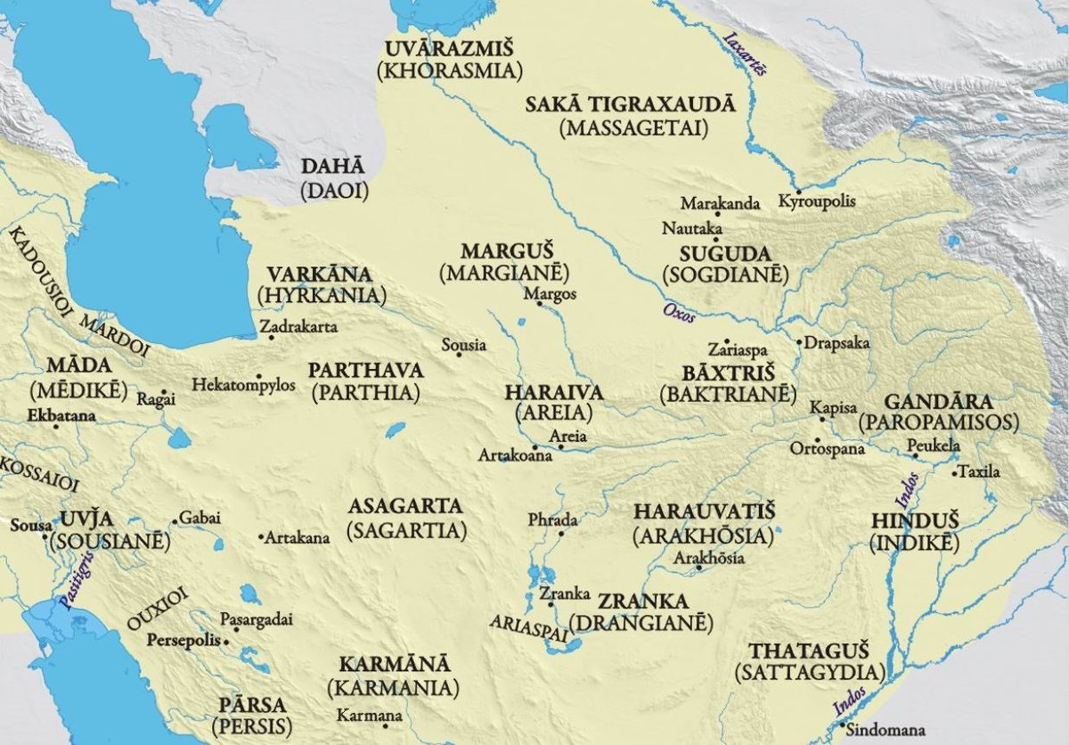 The Ancient World Blm On Twitter New Taw Thea Podcast Episode T8 Map Of The Eastern Satrapies Both Persian And Seleucid Names Shown Created By Ian Mladjov Bactria Afghanistan India Gandhara Indogreeks