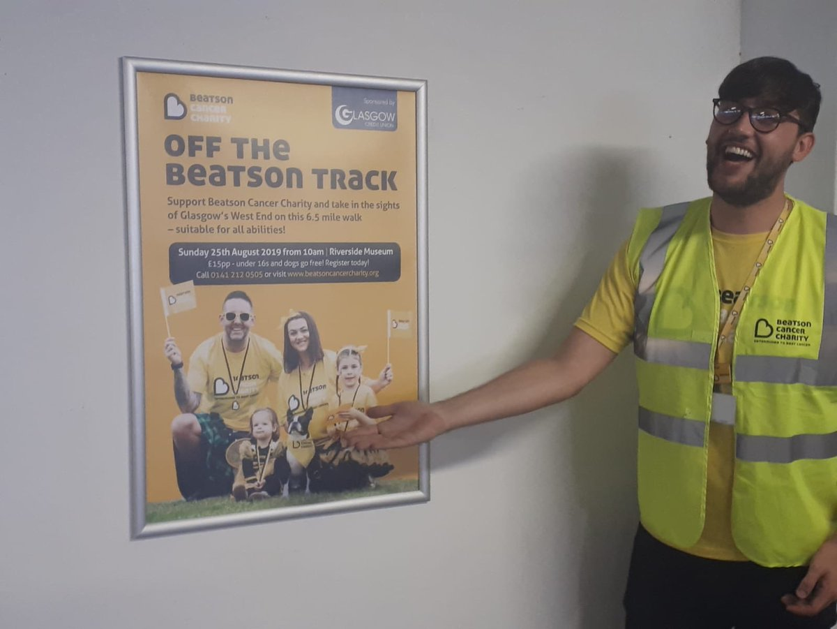 Busy week being a #ladladlad with the team, safe to same I'm useless 😂 HOWEVER here is hoping you notice @Beatson_Charity #OTBT promo boards at #GCCP car parks in Glasgow 💛