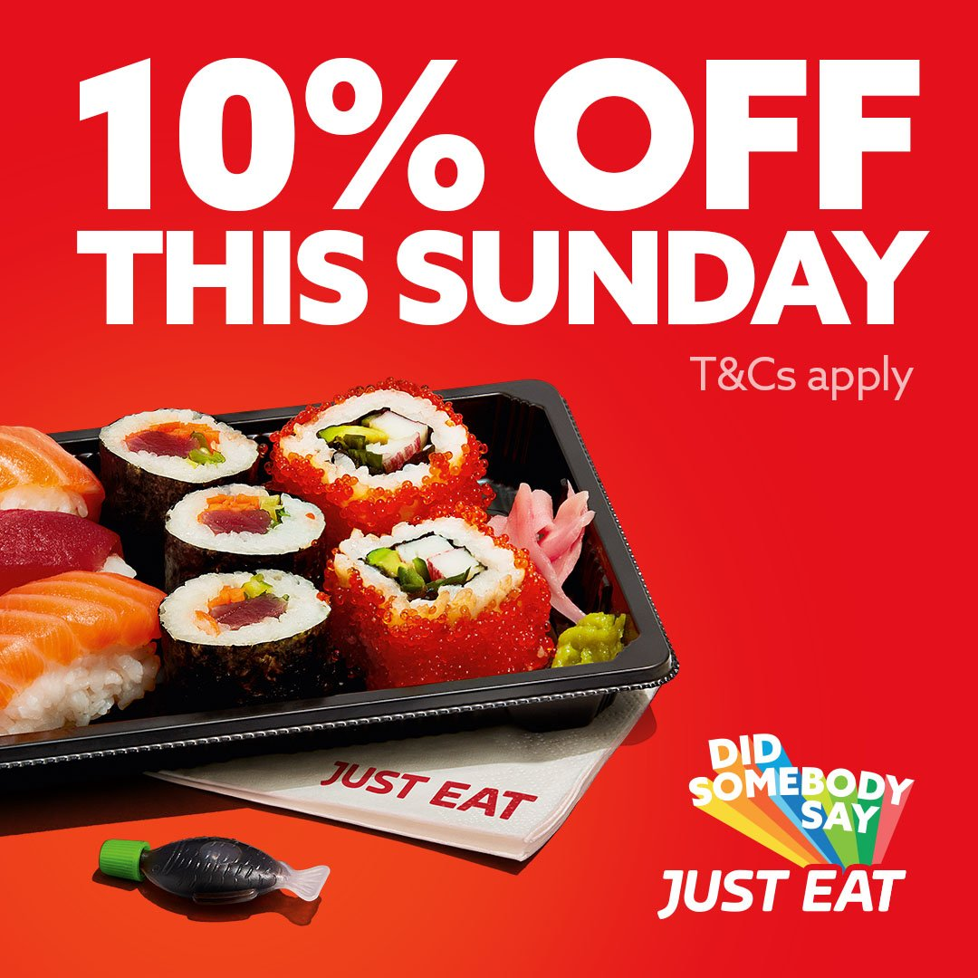 Just Eat Uk On Twitter Get That Deal Feel With 10 Off