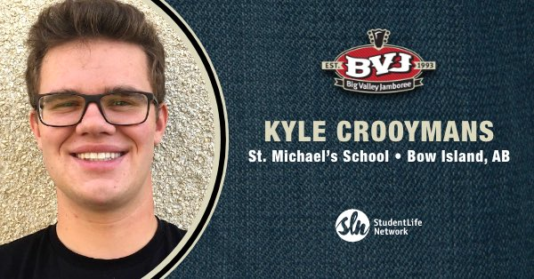 Congrats to Kyle Crooymans of Bow Island, Alberta who won tickets to @theBVJ 🔉