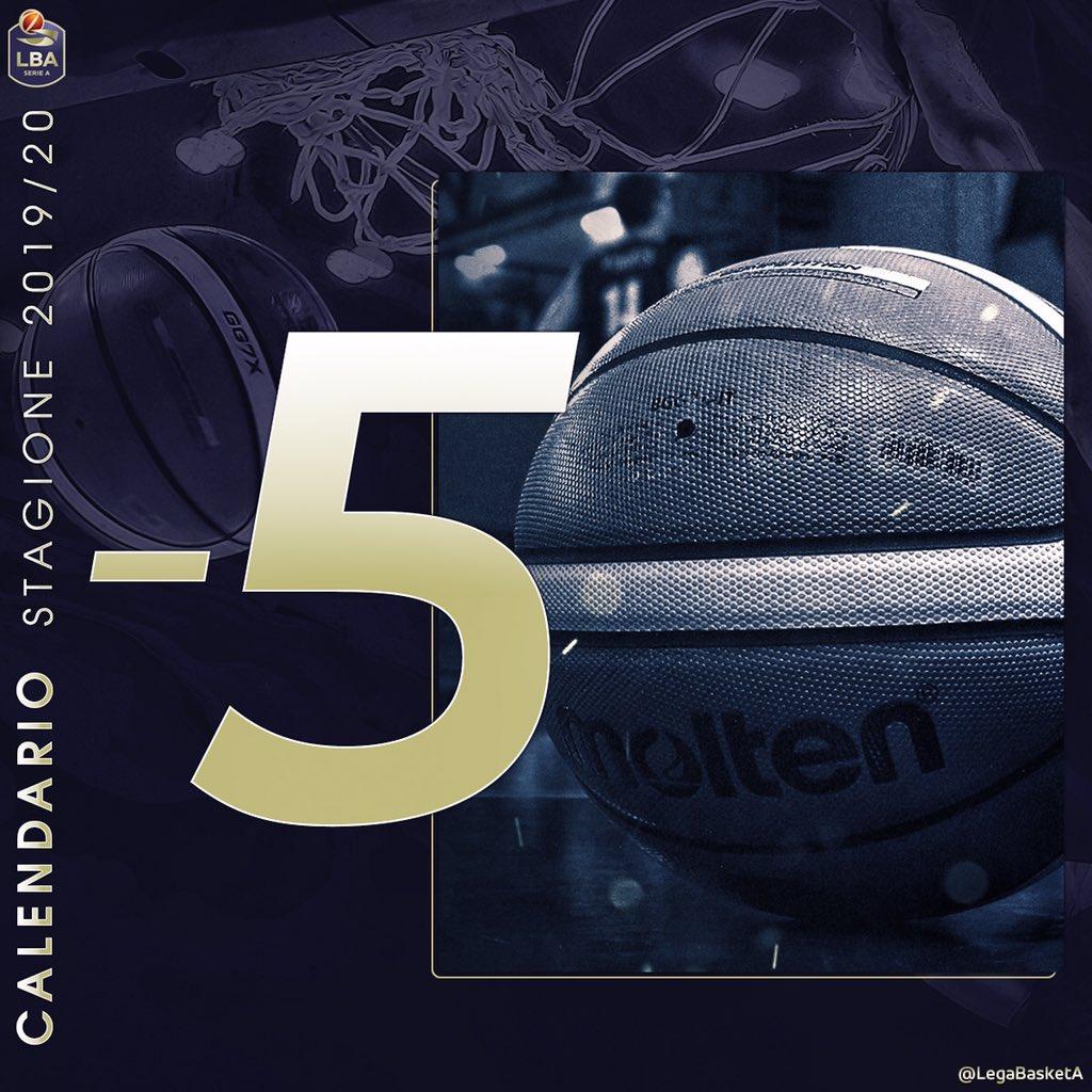 Calendario Legabasket.Lega Basket Serie A On Twitter 5 Mercoledi 31