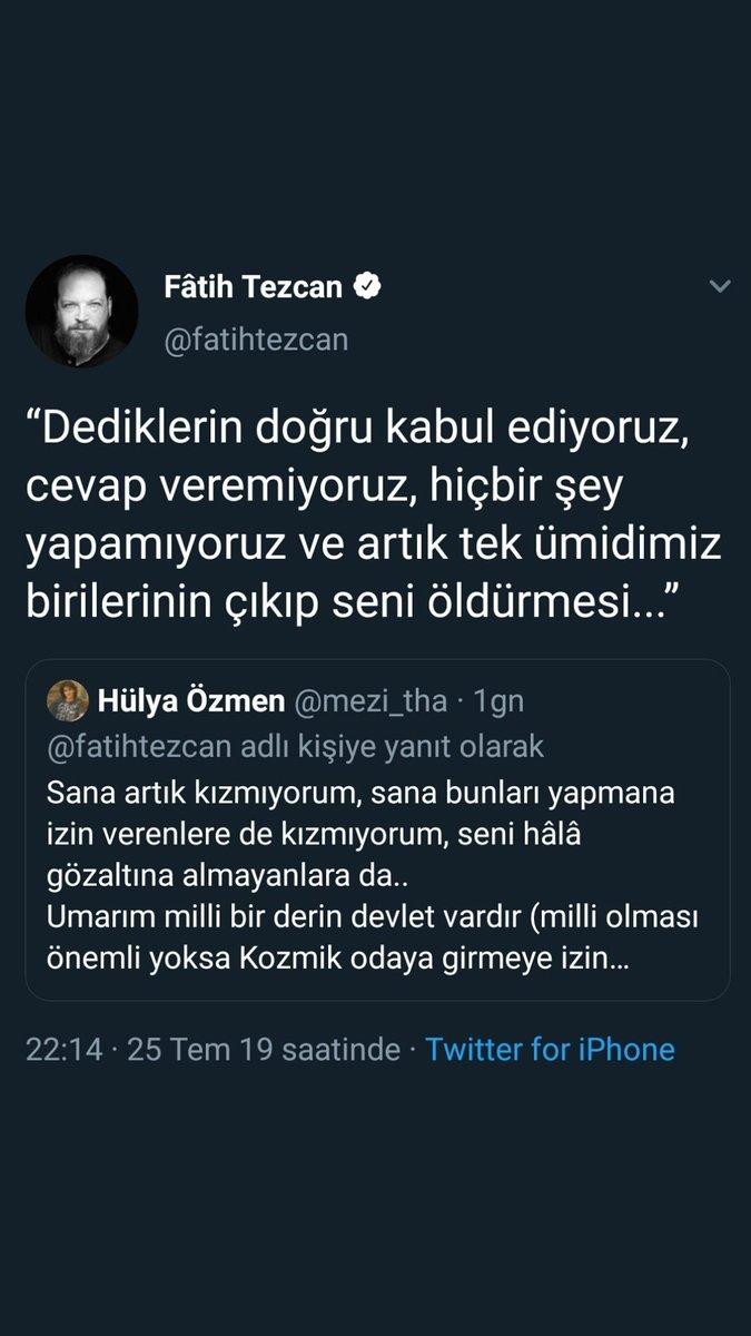 """Hülya Özmen on Twitter: """"Bunun bir #Ceza 'sı var mıdır bilmiyorum  @EmniyetGM ama bilginiz olsun diye buraya bırakıyorum! Şu saatten sonra  başıma herhangi bir şey gelirse, sorumlusu ilgili şahıstır..…  https://t.co/3J2DMN0aEl"""""""